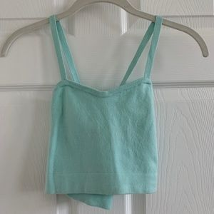 American Apparel sky blue crop top NWOT size S